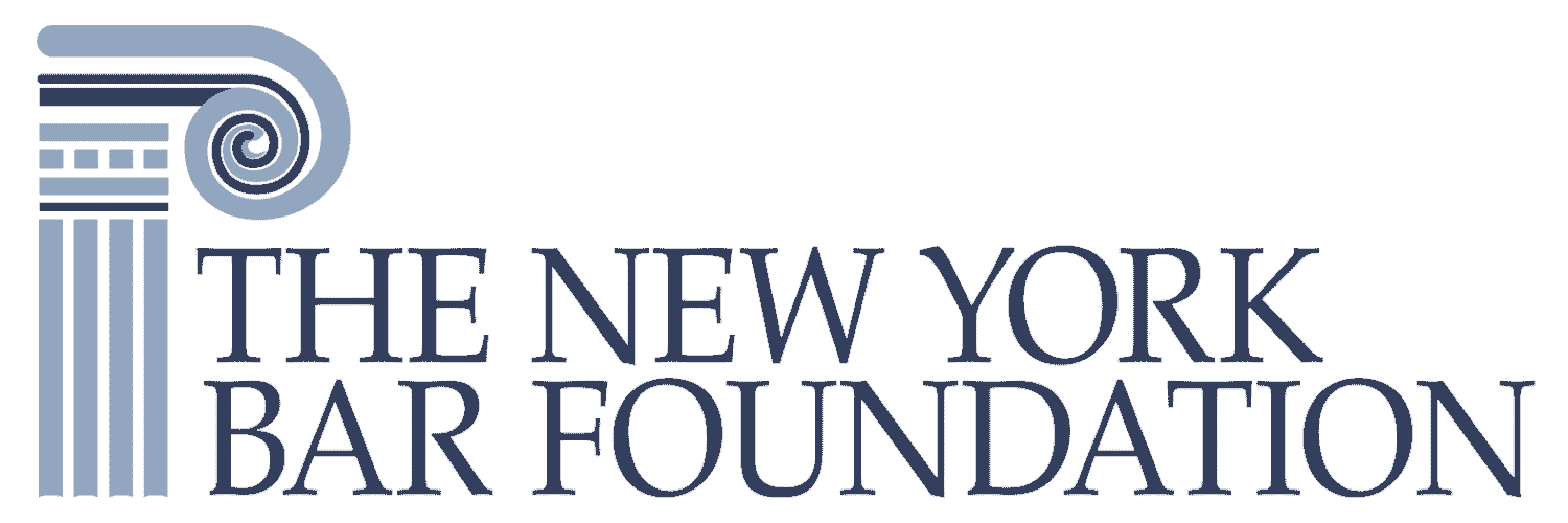 The New York Bar Foundation logo in blue