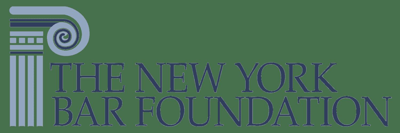 The New York Bar Foundation logo in blue